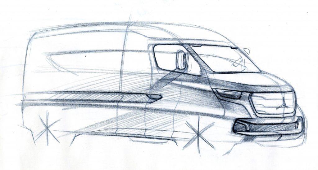 Omaľovánka auto Mercedes-Benz Vision Sprinter