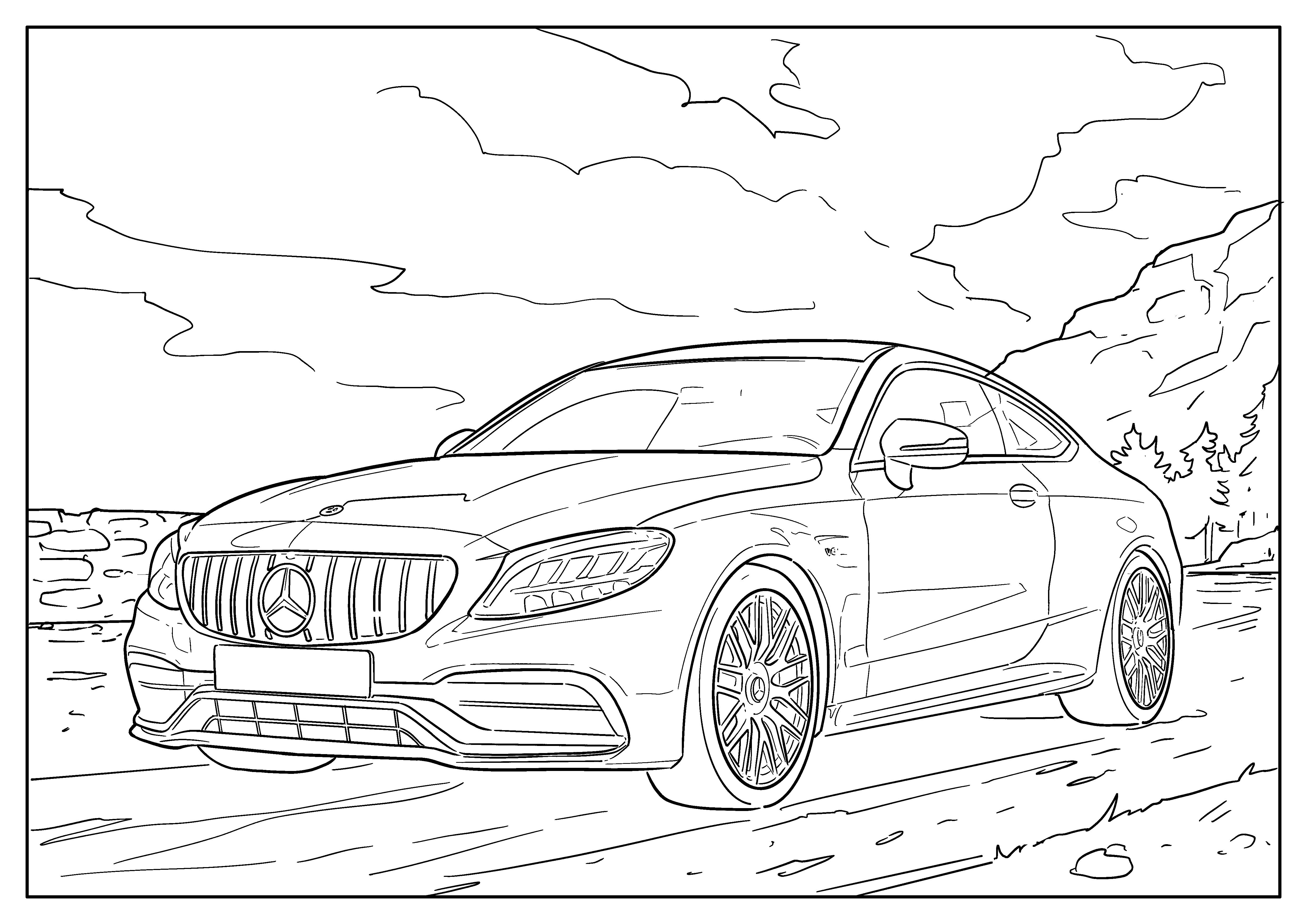 Omaľovánka auto Mercedes-Benz Trieda C kúpe (2014-2021)