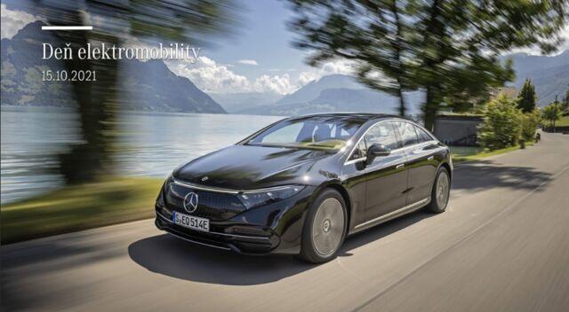 Deň elektromobility v piatok, 15. októbra 2021 od 9.00 hod do 18.00 hod! Prijmite naše pozvanie a vstúpte s nami do sveta elektrických a plug-in hybridných vozidiel Mercedes-Benz a zoznámte sa s úplnou novinkou - plne elektrickým vozidlom EQS od Mercedes-EQ!   Spolu strávime príjemné chvíle v priestoroch nášho showroomu MB Panónska na Panónskej ceste 31 v Bratislave, Petržalka.  Na čo sa môžete tešiť: Na predstavenie úplnej novinky EQS od Mercedes-EQ  Na elektrické vozidlá EQA a EQC a hybridy dobíjateľné zo siete Predvádzacie jazdy Diskusia o mýtoch a faktoch zo sveta elektromobility s našim produktovým špecialistom Prezentácia benefitov Mercedes-Benz Rozhovory s predajcami značky Mercedes-Benz Malé, čerstvé občerstvenie  Registrácia prebieha na https://mercedesbratislava.sk/registracia-den-elektromobility/ alebo na našom profile